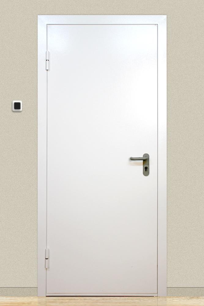 двери металлические белые противопожарные